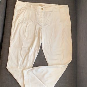White Michael Pants with Gold accents